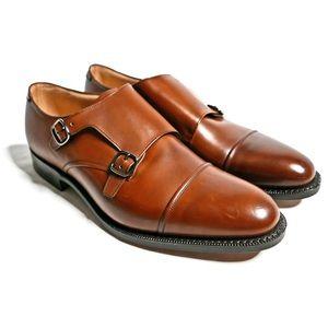 NWT Church's 'Ledstone' Tan Double Monk Shoes